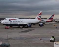 British Airways B747-436 G-CIVO pushing back at JFK/KJFK (AviationEagle32) Tags: newyorkjfk newyork newyorkjfkairport newyorkjohnfkennedy newyorkjohnfkennedyairport johnfkennedyairport johnfkennedy jfk kjfk jfkairport unitedstates unitedstatesofamerica usa american america oneworld airport aircraft airplanes apron aviation aeroplanes avp aviationphotography avgeek aviationlovers aviationgeek aeroplane airplane planespotting planes plane flying flickraviation flight vehicle tarmac britishairways speedbird ba baw boeing boeing747 747 b747 b747400 b747436 b744 gcivo jumbojet jumbo