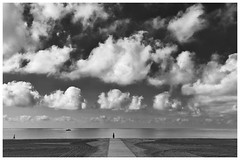 The Weight of the Sky (una cierta mirada) Tags: sky outdoors nature beach sea seascape clouds cloudscape mediterranean bnw blackandwhite santapola tamarit