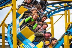 Scream if you wanna go faster (ShrubMonkey (Julian Heritage)) Tags: terror fear shock scream turbo coaster rollercoaster brightonpier funfair seaside coast fun people candid eastsussex brighton ride family fast expression capture streetphotography