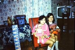 491_December1971_PaulineDebArnulfStreet (wrightfamilyarchive) Tags: pauline debbie wright arnulf street bellingham south east london se63ef christmas 1971 1970s 70s seventies