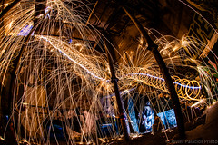 Spinning the steel wool and running up the stairs (Javier Palacios Prieto) Tags: steel wool spinning stairs old factory