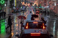 rain ... a crazy May ... (miriam ulivi) Tags: miriamulivi nikond7200 italia liguria genova primavera spring pioggia rain people persone luci lights riflessi reflections streetphotography stphotographia