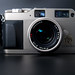 Front view of a Contax G1 and Carl Zeiss Planar 2/45 T*