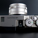 Top view of a Contax G1 and Carl Zeiss Planar 2/45 T*