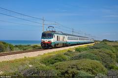 E402.035 (Marco Stellini) Tags: e402a trenitalia fs intercity adriatica campomarino adriatico mare estate ferrovie dello stato