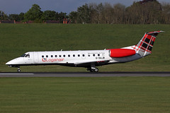 IMG_0069 1200 (Tristar images) Tags: gsajb emb135 loganair opertaing charter flight bhx carring norwich fc players