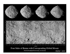 Four Sides of Bennu with Corresponding Global Mosaic (Lunar and Planetary Institute) Tags: bennu osiris‐rex