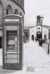 Phone box (vickyhindle) Tags: canoneos3 canonef50f14 neopan400cn blackwhite 35mmfilmphotography