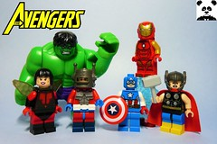 The Classic Avengers (HaphazardPanda) Tags: lego figs fig figures figure minifigs minifig minifigures minifigure purist purists character characters comics comic book books story group super hero heroes superhero superheroes marvel avengers infinity war endgame captain america iron man antman ant the wasp hulk incredible thor god thunder odinson tony stark bruce banner steve rodgers hank pym janet van dyne