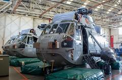 XV675 Royal Navy Westland Sea King HAS.1 @ HMS Sultan, Gosport, Hampshire. (Sw Aviation) Tags: xv675 royal navy westland sea king has1 hms sultan gosport hampshire has6 has5 helicopter heliport helipad helicopters avgeek aviation flying flight hangar stored training worked