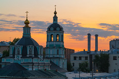 Moscow (gubanov77) Tags: moscow city urban cityscape sunset evening russia goldenhour church