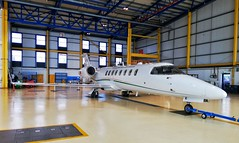Irish Air Corps Learjet 45 '258' In The Hangar At Baldonnel (Daithi Aviation) Tags: irish air corps irishaircorps planes learjet military ireland learjet45