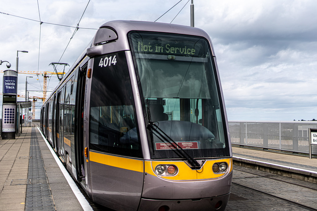 LUAS TRAM STOP AT BRIDE'S GLEN [GREEN LINE TERMINUS]-152325