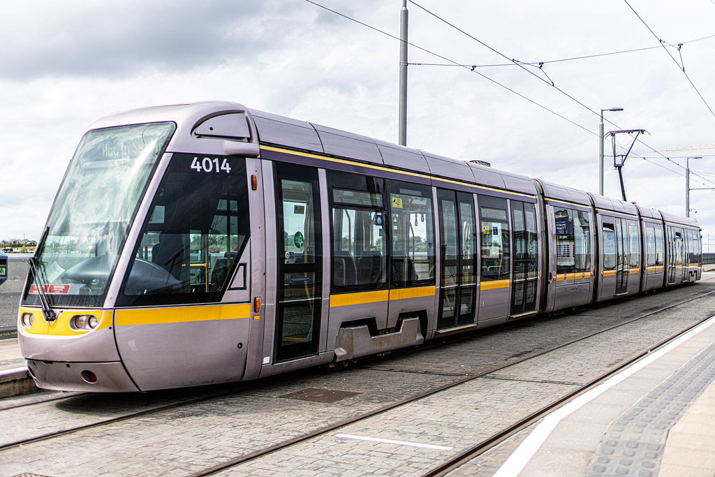 LUAS TRAM STOP AT BRIDE'S GLEN [GREEN LINE TERMINUS]-152326