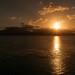 Sun setting off Trujillo, Honduras