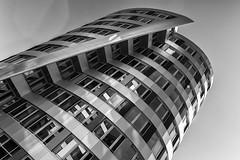 Tilt (Leipzig_trifft_Wien) Tags: berlin deutschland black white monochrome architecture building tower modern urban city facade light shadow reflection again