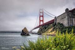 Golden Gate Bridge in Fog  (Postcards) (Abariltur) Tags: abariltur castellón spain nikond90 afsdxnikkor1024mmf3545ged goldengatebridge sanfranciscobay condadodemarin sausalito sanfrancisco california usa
