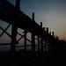 U Bein Bridge at Dusk, Mandalay Myanmar