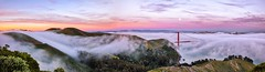 5 Shot Panorama from Marin Headlands (josht712) Tags: moon overlook travel landscape photography city sunset fog francisco san california panorama bridge gate golden
