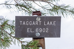 Taggart Lake, Grand Teton National Park (aud.watson) Tags: america northamerica us usa rockymountains wyoming grandtetonnationalpark taggartlake tetonrange jacksonhole snakeriver mountain mountains mountainrange valley valleys lake tree trees conifers winter snow water reflection reflections