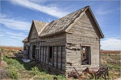 On a Texas Plain  (Old and Abandoned) (A Anderson Photography, over 3.5 million views) Tags: abandoned canon weathered bluesky