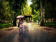 IMG018 (Luka***) Tags: rain park girl zagreb hrvatska croatia umbrella