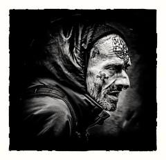 Man on the Street (Andy J Newman) Tags: monochromesilverefex street bandw black blackandwhite bristol candid d500 man nikon portrait england unitedkingdom monochrome silverefex homeless
