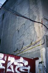 (Bucuresci Cartel) Tags: canon af35 ml canonaf35ml fuji film superia iso400 street graffiti bucuresti bucharest bucuresci romania archive analog filmphotography photos walls spray color colors shape shapes