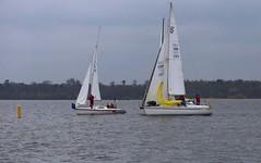 timing the drop (antrimboatclub) Tags: spinnaker atlantic challenge antrimboatclub boat sail sailing ireland sixmilewater loughneagh antrimbay antrim
