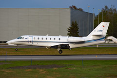 D-CAWS (Skidmarks_1) Tags: dcaws cessna citation680sovereign engm norway osl oslogardermoenairport aviation aircraft airport airliners
