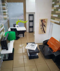 Checkered Tan House MOC. View from entrance. (betweenbrickwalls) Tags: lego house home furniture design furnituredesign legofurniture building afol architecture interiorphotography interiordecor