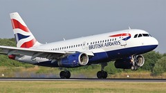 G-EUPA (AnDyMHoLdEn) Tags: britishairways a319 oneworld egcc airport manchester 05r