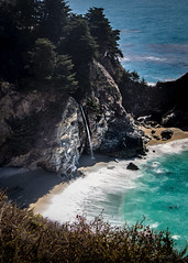 Big Sur McWay Falls No.6 (CDay DaytimeStudios w /1 Million views) Tags: ca california highway1 ocean landscape bigsur mountains water coastline hills pacificcoasthighway pacificcoast bluesky