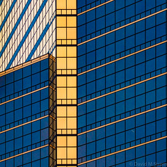 Detroit Geometry (David M Strom) Tags: abstract olympusem1markii davidstrom olympus12100 reflections detroit architecture