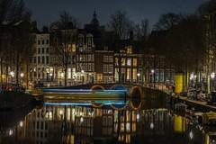 Amsterdam at Night (Kathy~) Tags: amsterdam night ff holland travel bridge lights artifical netherlands lighttrails friendlychallenges perpetualchallenge