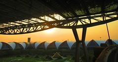 Bangkok Suvarnabhumi Airport, Thailand - sunset (jeffglobalwanderer) Tags: airport terminal airportarchitecture bangkokairport suvarnabhumiairport internationalairport modernarchitecture sunset sunsetglow