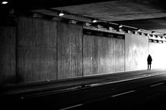 Beton (Guido Klumpe) Tags: tunnel beton minimal minimalism minimalistisch simple reduced sw schwarzweis blackandwhite bnw bw monochrome kontrast contrast gegenlicht shadow schatten silhouette gebäude architecture architektur building perspektive perspective candid street streetphotographer streetphotography strase hannover hanover germany deutschland city stadt streetphotographde unposed streetshot