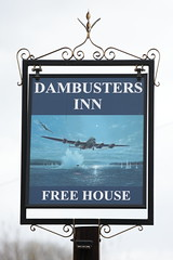 The Dambusters Inn pub sign Scampton Lincolnshire UK (davidseall) Tags: the dambusters inn pub pubs sign signs tavern bar public house houses scampton lincolnshire uk gb british english village hanging gbg2019 gbg dam buster