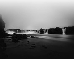 Godafoss (frodi brinks photography) Tags: blackandwhite frosibrinks waterfall goðafoss godafoss iceland