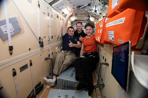 The three crewmates who rode the Soyuz MS-12 spacecraft