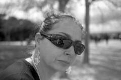 Her - Madrid - April 2014 (cava961) Tags: madrid portrait analogue analogico monocromo monochrome bianconero bw canon