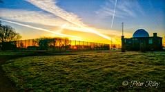 Sunrise over the observatory at Moor Park, Preston. (peterileypics) Tags: sunshine sunrise sun sunset colour lightroom light sky scenery landscape clouds architecture park nature atmosphere observatory