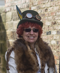 DSC08576 -3 (sony_photographer) Tags: beamishmuseum beamish museum sonya7ii steampunk hat female smile sunglasses glasses