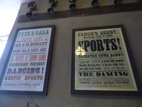 Canons Ashby House - Great Kitchen - old posters - Fete & Gala / Sports!