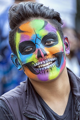 Everyday People Living Tradition (_aires_) Tags: aires iris paint paintedface smile colour color colorful dayofthedeadparade portrait canoneos5dmarkiii canonef70300mmf456isusm mexicocitymexico