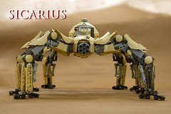 Sicarius (Ted Andes) Tags: real mech pilot sand spider sicarius lego fusion bionicle tan balloon