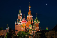 Moscow Night (gubanov77) Tags: moscow russia architecture kremlin redsquare cathedral church night building city colors saintbasilscathedral