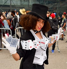 DSC_0082 (Randsom) Tags: cosplay cosplayer costume newyork comiccon nycc 2018 dc comics superhero zatanna justiceleague tophat freckles girl female woman beauty card shark superheroine heroine magician magic bowtie natural frizz africanamerican gloves sexy
