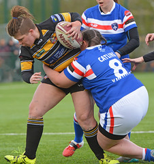 Caught In The Act (Feversham Media) Tags: yorkcityknightsladiesrlfc wakefieldtrinityladiesrlfc womenssuperleague rugbyleague york womensrugbyleague yorkstjohnuniversity jordancatling