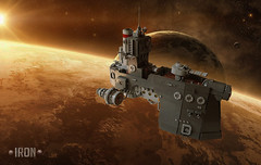 Iron (Dwalin Forkbeard) Tags: lego moc spaceship scifi battleship space future cannon dwarf steampunk dieselpunk